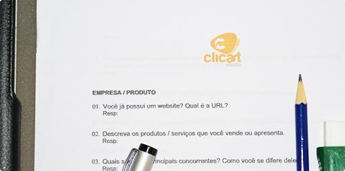 Briefing do Clicart Studio